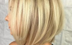 Butter Blonde A-line Bob Hairstyles