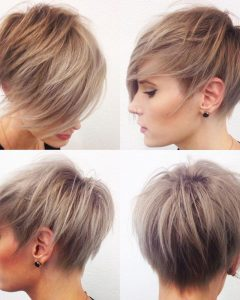 Razored Pixie Bob Haircuts With Irregular Layers