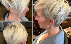 Disheveled Blonde Pixie Haircuts with Elongated Bangs