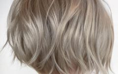 Choppy Rounded Ash Blonde Bob Haircuts