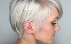 Sleek Metallic-white Pixie Bob Haircuts