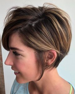 Long Disheveled Pixie Haircuts with Balayage Highlights