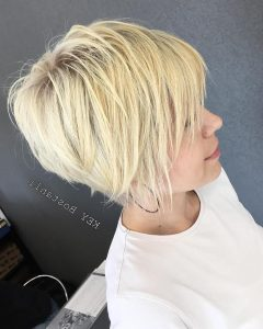 Sunny Blonde Finely Chopped Pixie Haircuts