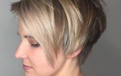 Elongated Choppy Pixie Haircuts with Tapered Back