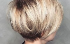 Rounded Pixie Bob Haircuts with Blonde Balayage