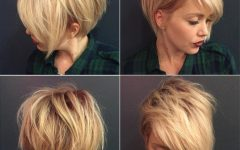 Messy Asymmetrical Pixie Bob Haircuts