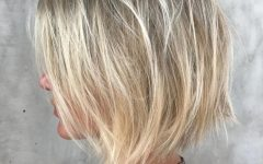Hazel Blonde Razored Bob Hairstyles
