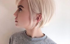 Sleek Blonde Bob Haircuts with Backcombed Crown