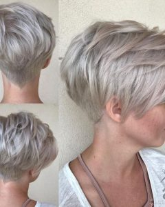 Bronde Balayage Pixie Haircuts with V-cut Nape