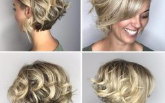 Two-tone Curly Bob Haircuts with Nape Undercut