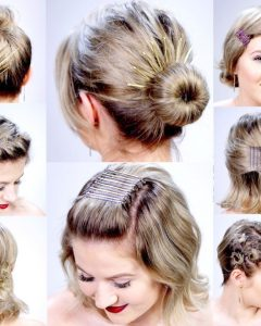 Super Easy Updos for Short Hair