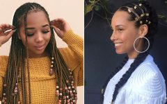 Chunky Black Ghana Braids Ponytail Hairstyles