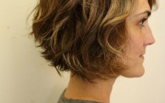 Nape-length Brown Bob Hairstyles with Messy Curls