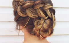 Side Bun Twined Prom Hairstyles with a Braid