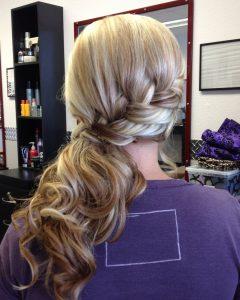 Elegant Braid Side Ponytail Hairstyles