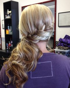 Updo Pony Hairstyles With Side Braids