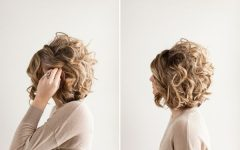 Curly Wedding Updos for Short Hair
