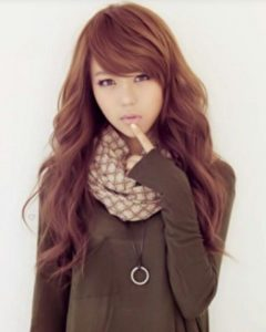 Korean Long Haircuts for Women with Red Hair