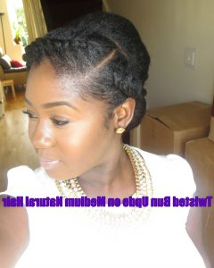 Natural Hair Updos For Medium Hair