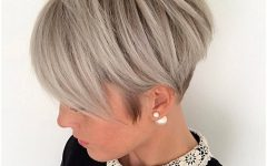 Short Silver Crop Blonde Hairstyles
