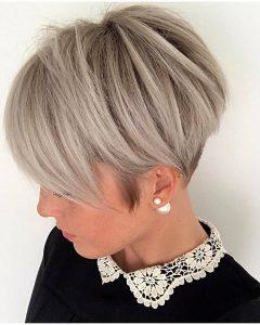 Short Silver Crop Blonde Hairstyles