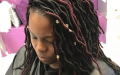 Tightly Coiled Gray Dreads Bun Hairstyles