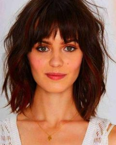 Short Hairstyles With Bangs For Round Face