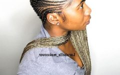 Geometric Blonde Cornrows Braided Hairstyles