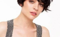 Wavy Messy Pixie Hairstyles with Bangs