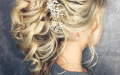 Curly Ponytail Wedding Hairstyles for Long Hair
