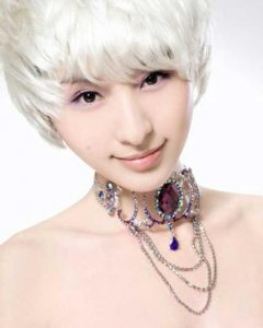 Cute Short White Hairstyles for Korean Girls