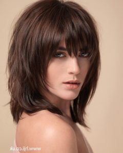 Medium Hairstyles With Fringe And Layers