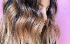 Deep Chocolate Curls Hairstyles with High Contrast Highlights