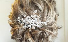Swirled Wedding Updos with Embellishment