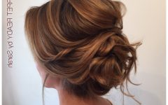 Voluminous Curly Updo Hairstyles with Bangs
