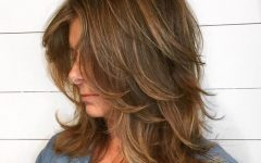 Warm Brown Hairstyles with Feathered Layers
