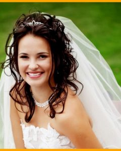 Wedding Hairstyles For Long Hair Down With Veil And Tiara