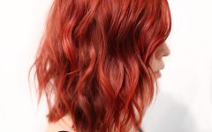 Bright Red Medium Hairstyles