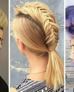 Unique Updo Faux Hawk Hairstyles