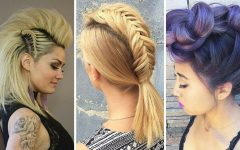 French Braid Pinup Faux Hawk Hairstyles