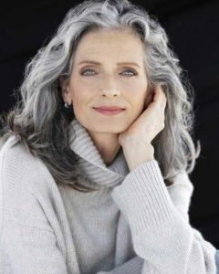 related about long hairstyles for grey hair over 60