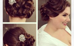 Pin Curls Wedding Hairstyles