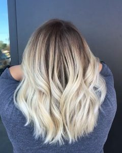 Platinum Blonde Hairstyles With Darkening At The Roots