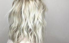 Platinum Blonde Medium Hairstyles