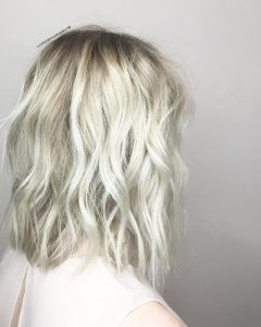 Platinum Blonde Medium Hairstyles