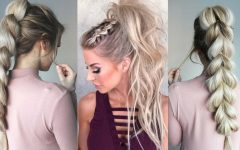 Braided Glam Ponytail Hairstyles
