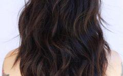 Wavy Bedhead Long Shag Hairstyles