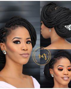 Wedding Hairstyles With Box Braids