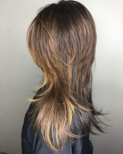 Chic Flipping Layers Long Shag Haircuts