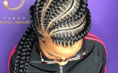Thin and Thick Cornrows Under Braid Hairstyles
